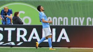 David Villa slipped while taking his spot kick