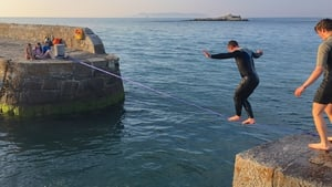 Tightrope walkers at Coliemore Harbour, Dalkey (Pic: John Fahy)