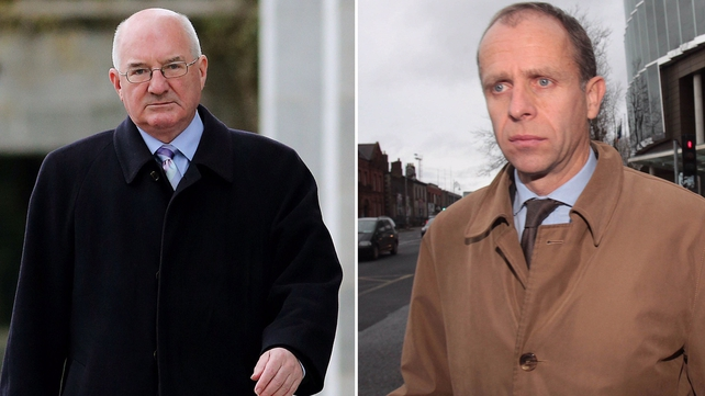 Willie McAteer (L) and John Bowe were found guilty of conspiracy to defraud