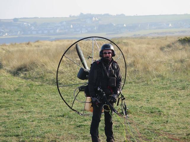 Oisin Craig ready for lift off.