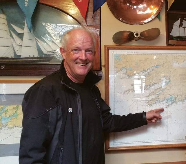 Oisin Craig plottinga route to Africa