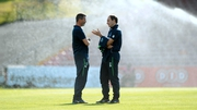 Roy Keane and Martin O'Neill were engrossed in deep discussion prior to kick-off