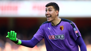 Watford's Costel Pantilimon is the lone Premier League player in Romania's squad