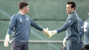 Keiren Westwood (L) has got the nod over David Forde