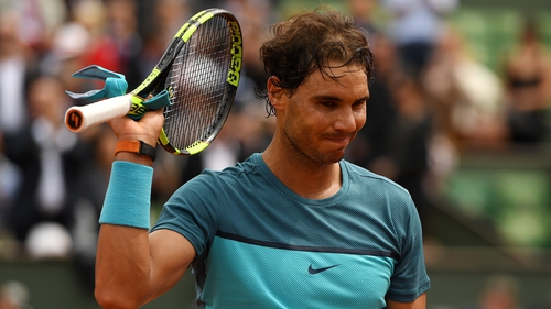 Rafael Nadal has been hampered by a wrist injury