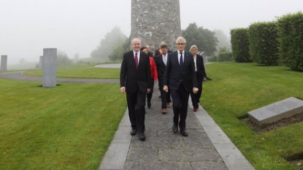 Martin McGuinness was on a tour of Flanders (Pic: @M_McGuinness_SF)