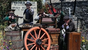 Re-enactors from the Ashbourne re-enactment group in the Bullets and Boiled sweets 1916 garden take part in the festival