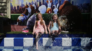 Rachel Woods (L) and Molly Hayes (R) enjoy the Secret Life of Pets garden