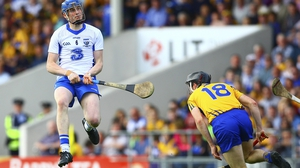 Aussie Gleeson scoring a trademark long-range point for Waterford against Clare in the Division 1 League final replay