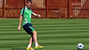 James McCarthy picked up an injury playing for Everton on the final day of the season