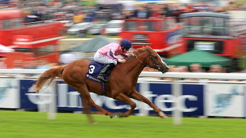 Legendary Lunch was given a nice lead into the straight and moved up to challenge for the lead with two furlongs to run