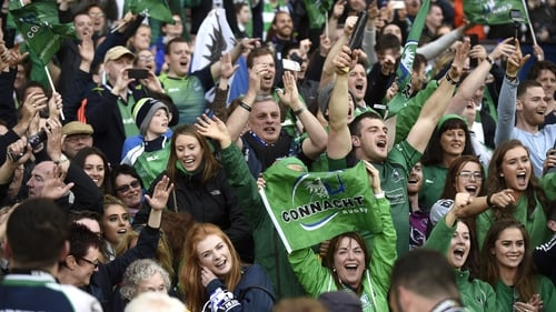 Connacht supporters in full voice