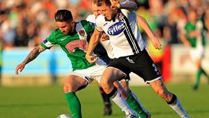 Sean Maguire tussles with Brian Gartland