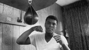 Muhammad Ali training in his gym in 1965
