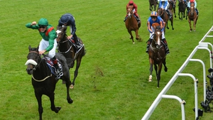 Harzand (sheepskin noseband) is a top-price 10-11 favourite for the Irish Derby