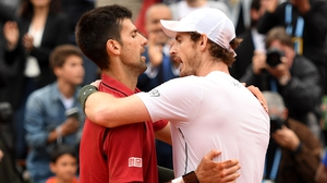 Murray (right) was disappointed but proud to be part of Djokovic's big day
