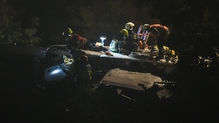 The train was travelling from the west to the east of Belgium when the crash took place at around 11 pm local time