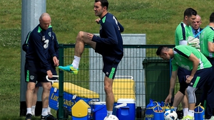 Keane took part in today's session at Abbotstown