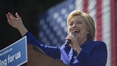 Clinton hails 'biggest crack' in glass ceiling