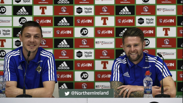 Chris Baird and Oliver Norwood appreciated the personal touch at their team hotel