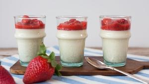 Strawberry Panna Cotta.