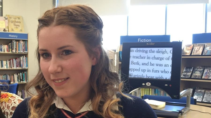 A visually impaired Leaving Cert student aims high