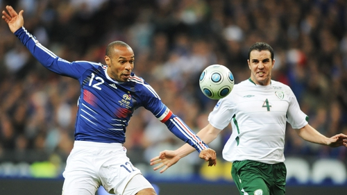 Thierry Henry's handball assist ended Ireland's hopes of qualifying for World Cup 2010