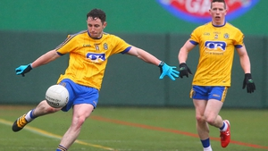 Ciaran Murtagh (L) in action against New York
