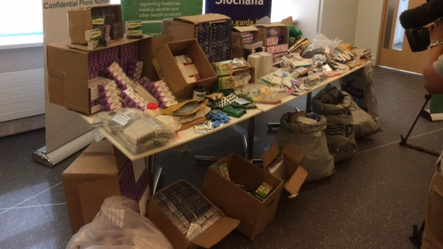 The counterfeit and other illegal medicines were worth around €350,000
