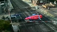 An incident at a level crossing in Sandymount, Dublin