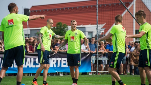 Sweden players in training