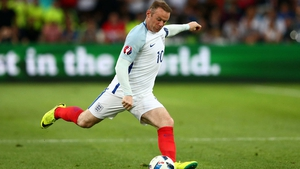 Wayne Rooney in action for England during Euro 2016