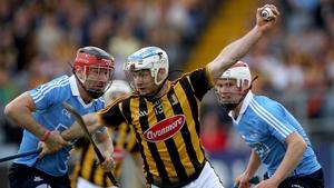 Dublin's Niall Corcoran tackles Jonjo Farrell of Kilkenny