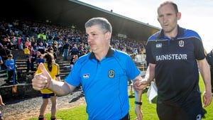 Roscommon managers Kevin McStay and Fergal O'Donnell at the final whistle