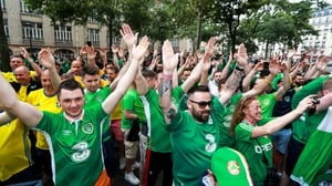 Ireland fans thronged the streets of Paris today