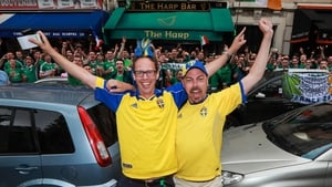 Swedish fans were more than welcome to join the party