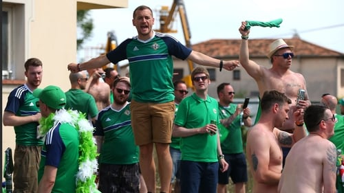 The green and white army were in high spirits ahead their game against Poland