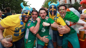 Fans from both nations were in high spirits well before kick-off...