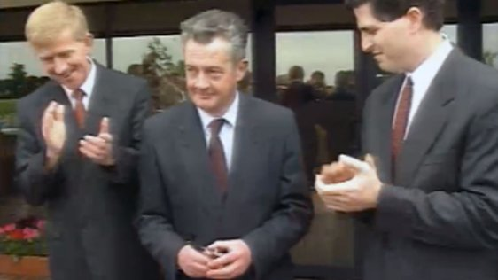 Des O'Malley Opens Dell Raheen Plant (1991)