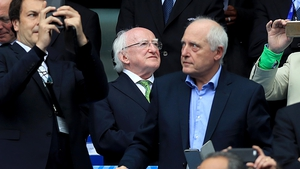 President Michael D Higgins is among the sell-out crowd at Saint Denis