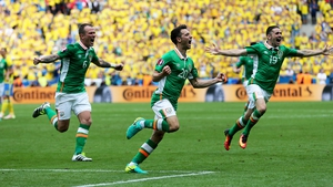 Wes Hoolahan put Ireland in in the 48th-minute