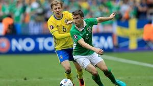 Seamus Coleman set up Ireland's goal