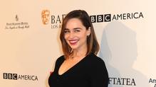 Emilia Clarke at the BAFTA Tea Party.