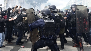 Police clashed with protesters during rally over labour reform