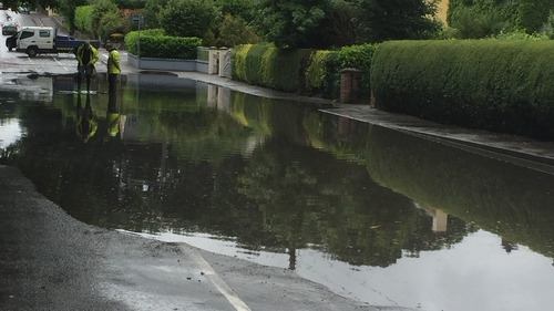 Flash flooding was reported in Athlone, as well as in parts of Dublin