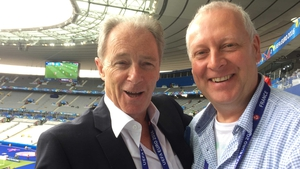 Brian Kerr and Adrian Eames in the Stade de France