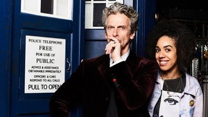 Doctor Who's Peter Capaldi with Pearl Mackie