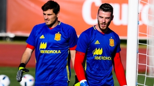 Casillas (L) has been supplanted by De Gea in the Spanish goal
