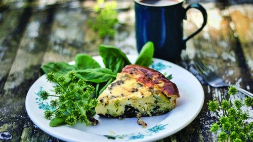 Black Pudding & Goat Cheese Frittata