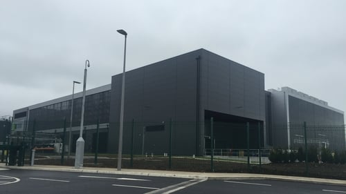 The €150m facility at Grangecastle in Co Dublin houses servers which run many of Google's main products